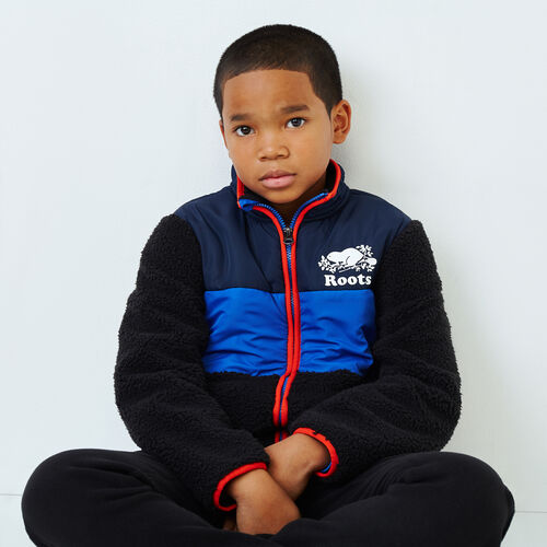 Roots-Kids Our Favourite New Arrivals-Boys Sherpa Fleece Jacket-Black-A