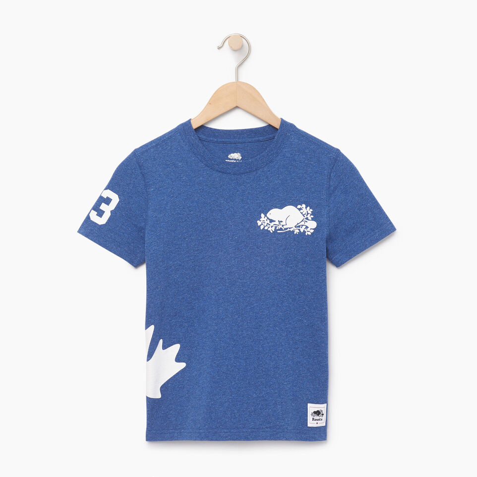 Roots-Kids Boys-Boys Bedford T-shirt-Active Blue Mix-A