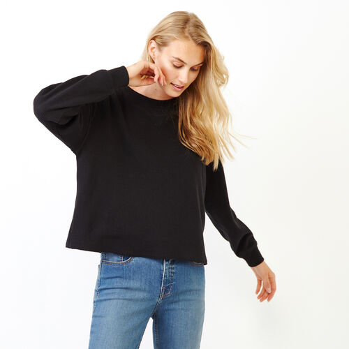 Roots-Women Our Favourite New Arrivals-Kinuso Waffle Top-Black-A