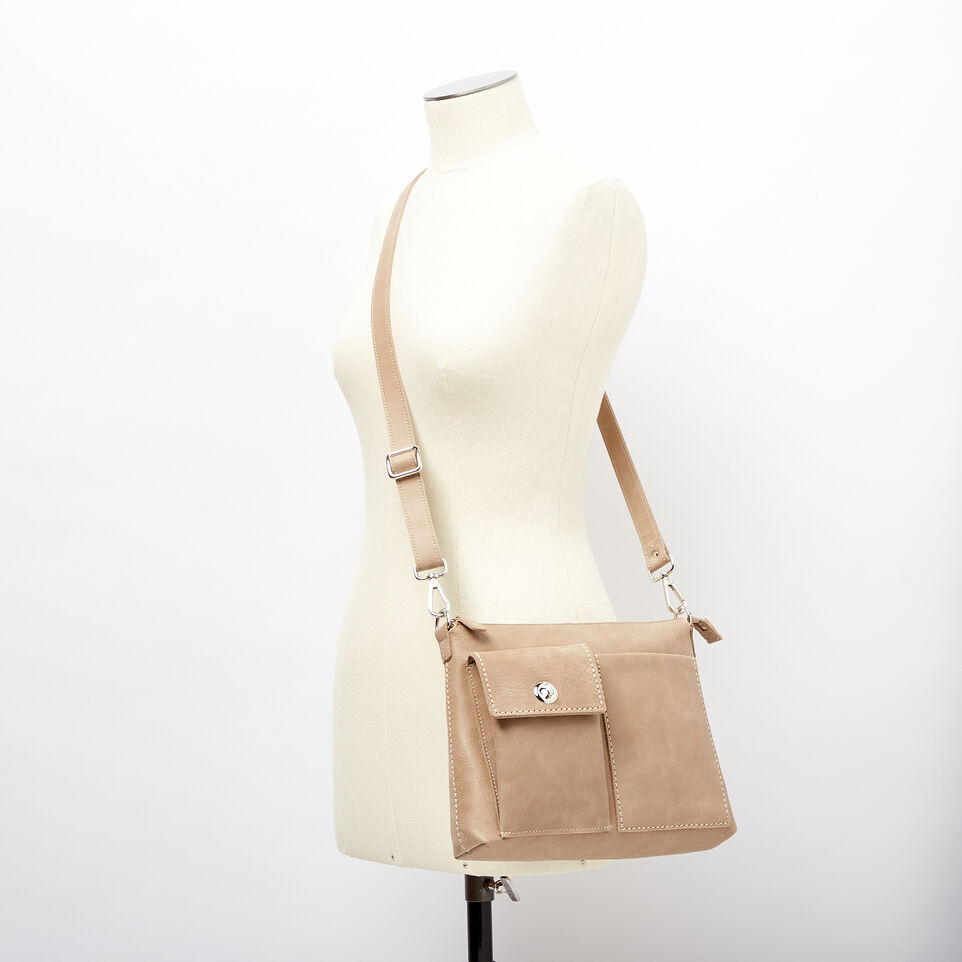 Roots-Leather Handbags-The Villager Tribe-Sand-B