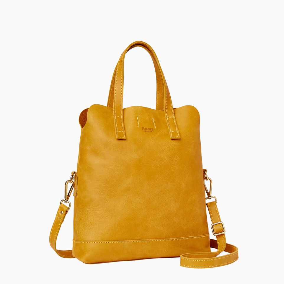 Roots-Leather Collections-Junction Foldover-Squash Yellow-C