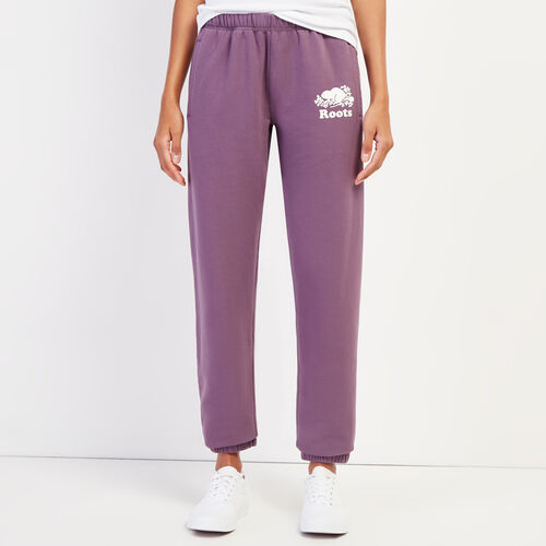 Roots-Women Sweatpants-Original Cozy Sweatpant-Vintage Violet-A