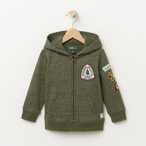 Roots-Kids Sweats-Toddler Patches Hoody-Climbing Ivy Pepper-A