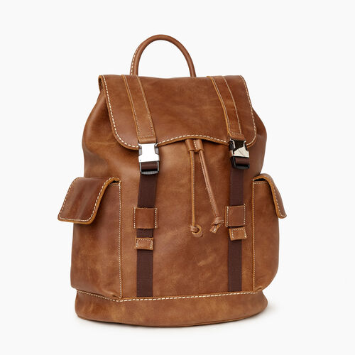 Roots-Men Backpacks-Cabin Hiking Pack Tribe-Natural-A