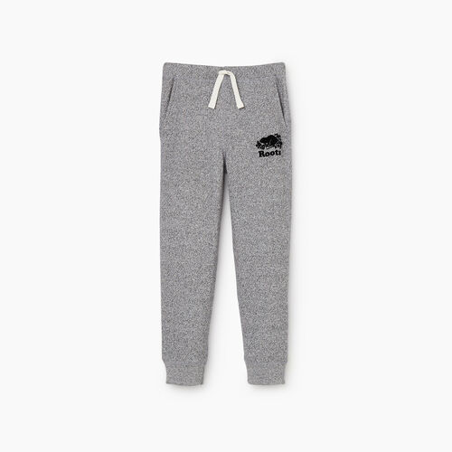 Roots-Kids Bottoms-Boys Park Slim Sweatpant-Salt & Pepper-A