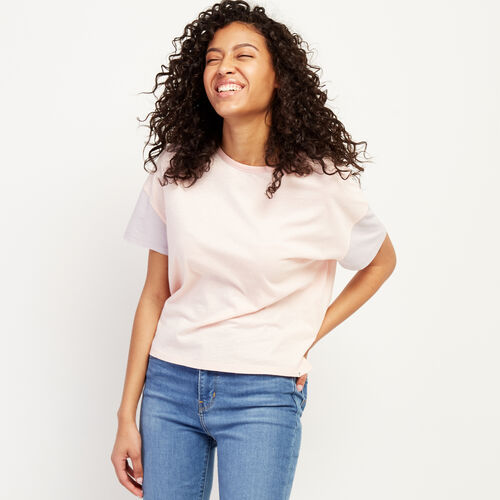 Roots-Women New Arrivals-Courtenay T-shirt-Silver Pink-A