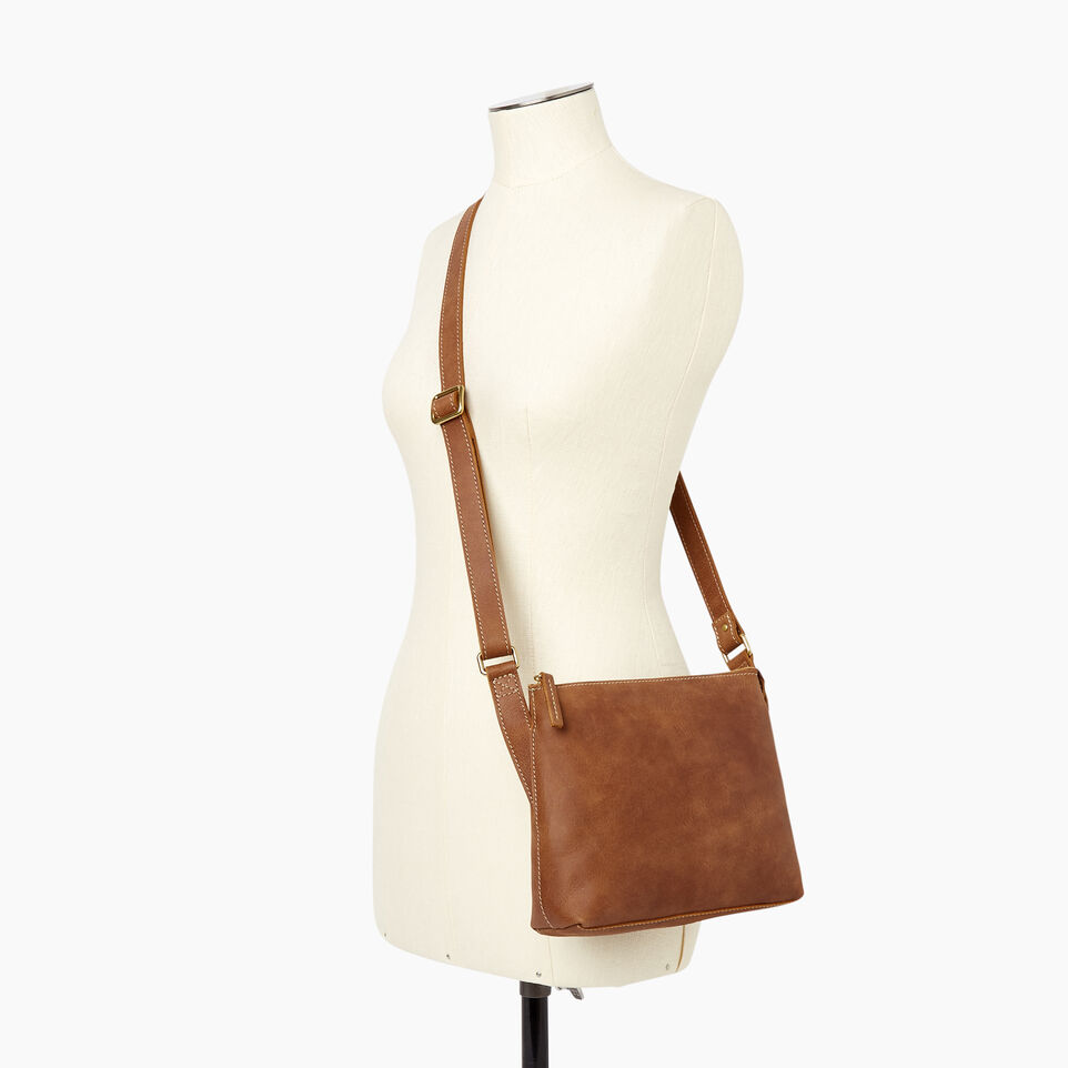 Roots-Leather  Handcrafted By Us Our Favourite New Arrivals-Journey Crossbody Tribe-Natural-B