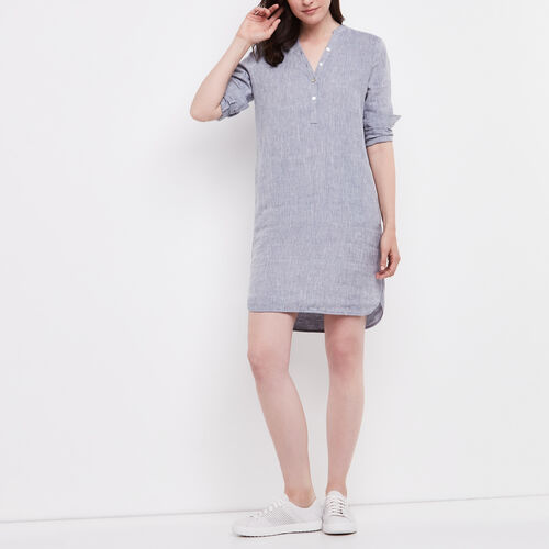 Roots-Women Dresses-Mabel Dress-Flint Stone-A