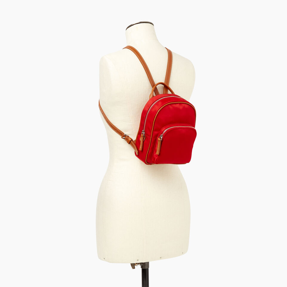 Roots-Cuir Sacs Style Urbain-City Chelsea Pack Nylon-Rouge-B