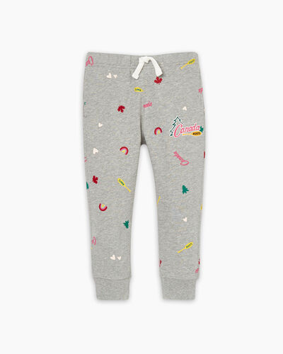Roots-Kids Toddler Girls-Toddler Outdoors Slim Sweatpant-Grey Mix-A
