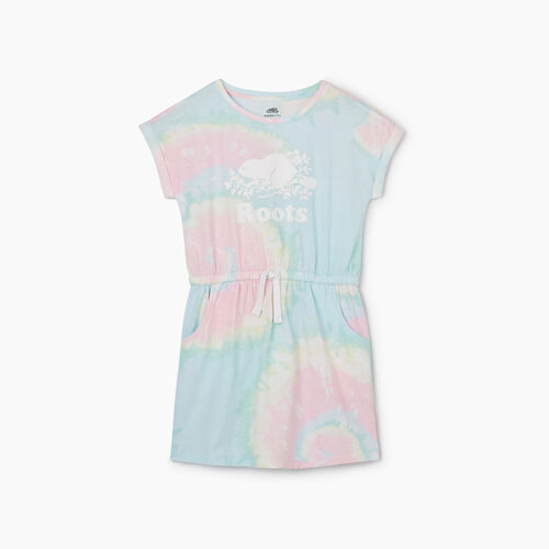 Roots-Kids New Arrivals-Girls T-shirt Dress-Multi-A