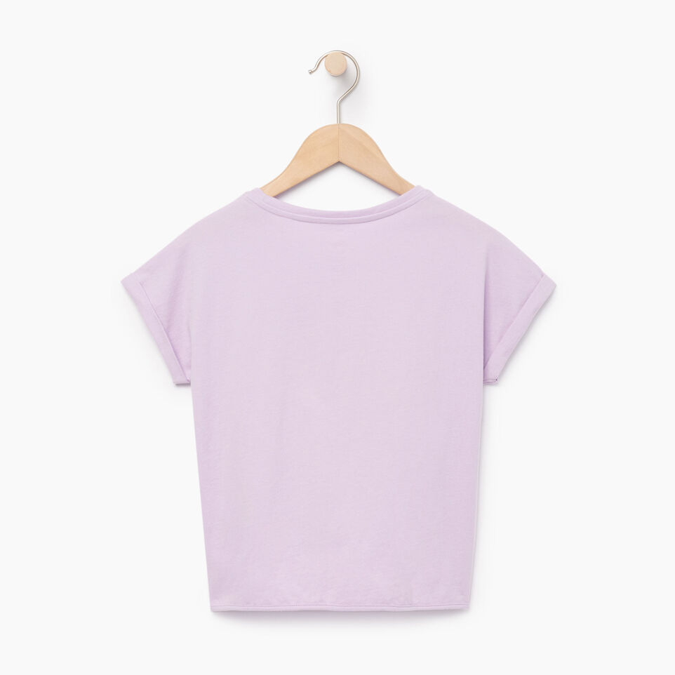 Roots-Clearance Kids-Girls Tie T-shirt-Lavendula-B