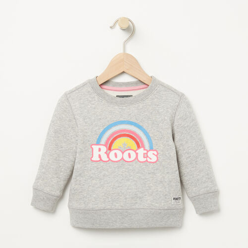 Roots-Sale Baby-Baby Cooper Rainbow Crew-Grey Mix-A