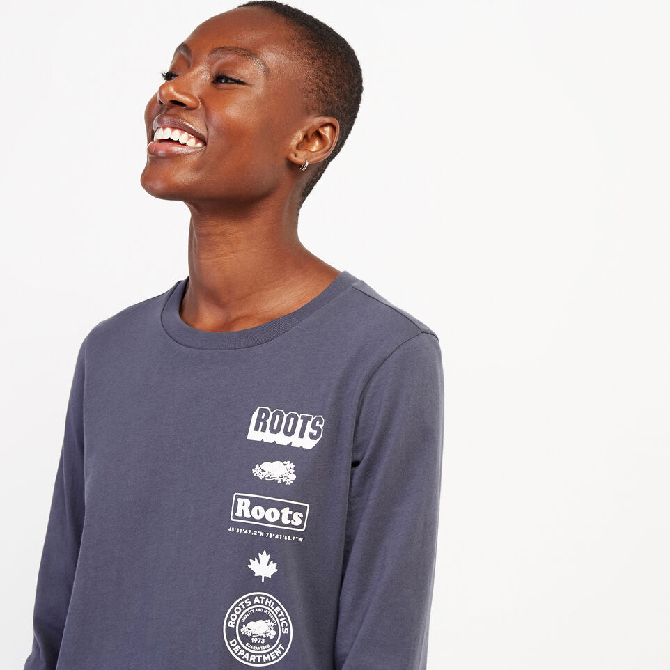 Roots-undefined-Womens Stacked Long Sleeve T-Shirt-undefined-E