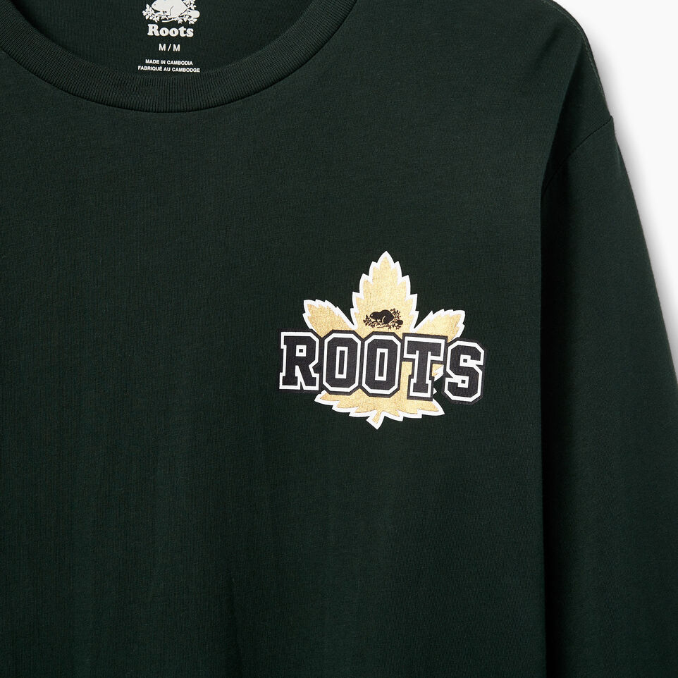 Roots-undefined-Mens Canada Foil Longsleeve T-shirt-undefined-D