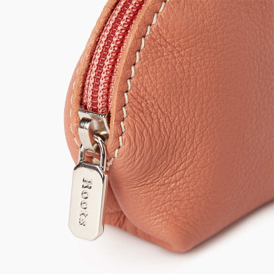 Roots-Leather Categories-Small Euro Pouch-Canyon Rose-D