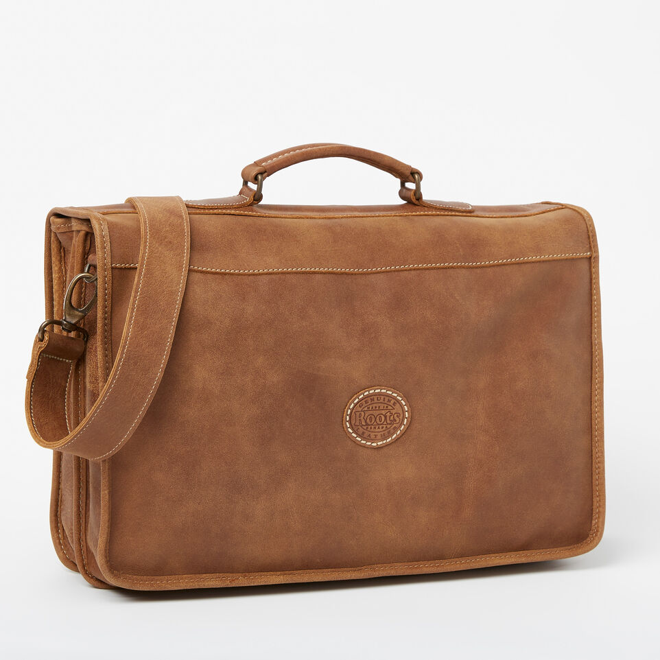 Roots-Leather Briefcases & Messengers-The Original Briefcase-Natural-C