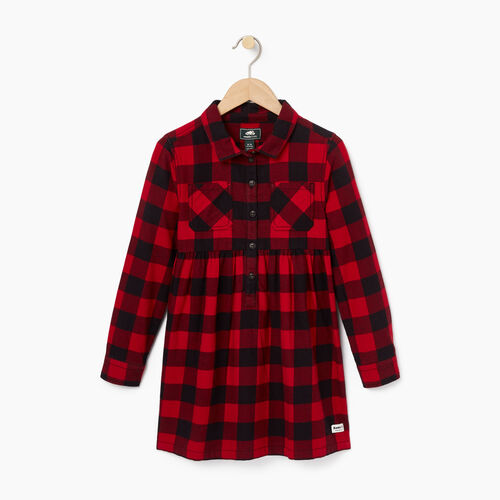 Roots-Kids Categories-Girls Park Plaid Dress-Lodge Red-A
