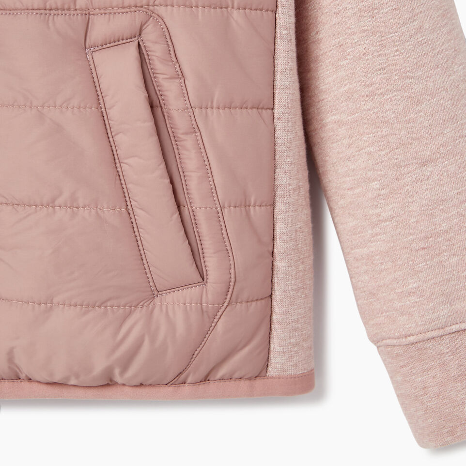 Roots-New For July Daily Offer-Girls Roots Hybrid Hoody Jacket-Woodrose-D
