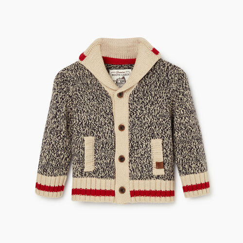 Roots-Kids Our Favourite New Arrivals-Baby Roots Cabin Shawl Cardigan-Grey Oat Mix-A