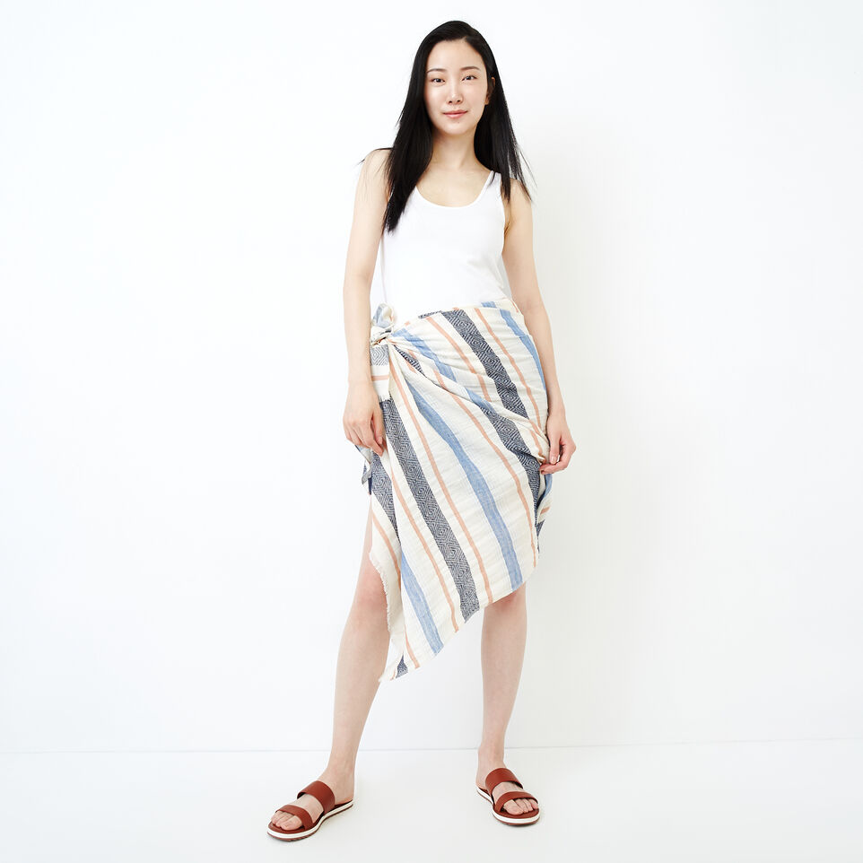 Roots-Women Clothing-Tonquin Sarong-Navy-A