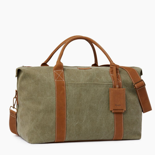 Roots-Men Our Favourite New Arrivals-Whistler Weekender Canvas-Khaki-A