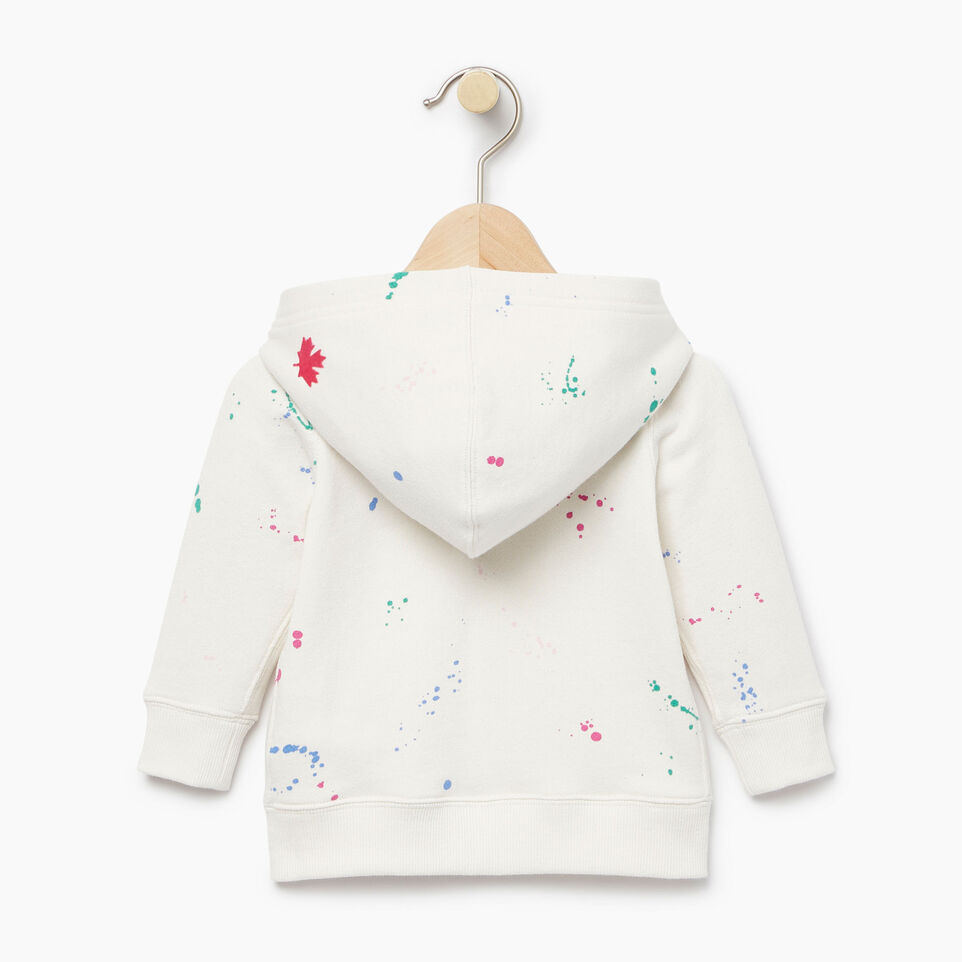 Roots-Kids Our Favourite New Arrivals-Baby Splatter Full Zip Hoody-Cannoli Cream-B