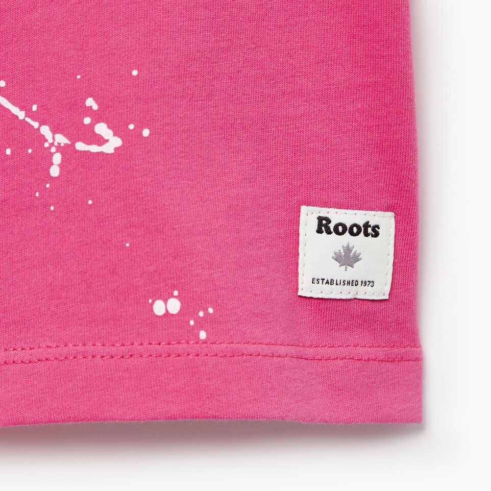 Roots-Kids Our Favourite New Arrivals-Baby Splatter Aop T-shirt-Raspberry Rose-C