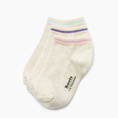 Roots-Kids Accessories-Kids Cabin Ped Sock 3 Pack-White Mix-A