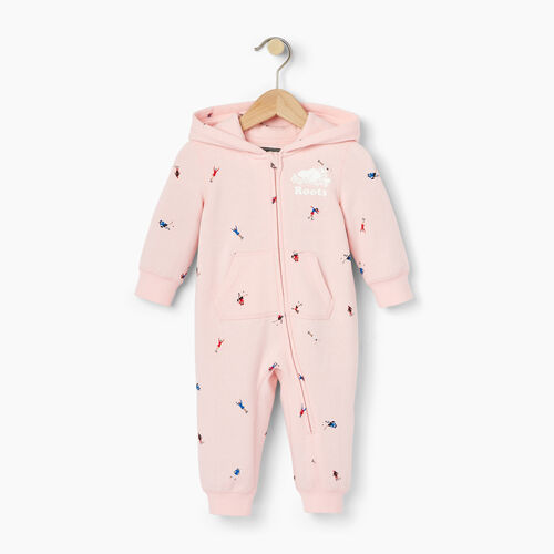 Roots-Kids Our Favourite New Arrivals-Baby Skater AOP Romper-Light Pink-A