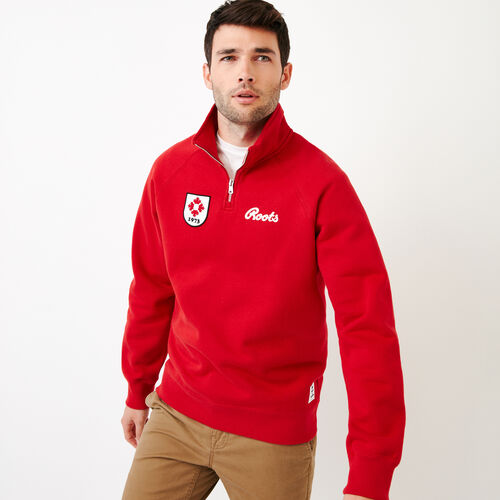 Roots-Men Our Favourite New Arrivals-Mens Canada Zip Stein-Sage Red-A