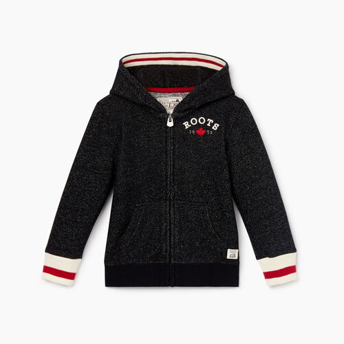Roots-Kids Toddler Boys-Toddler Cabin Full Zip Hoody-Black Pepper-A