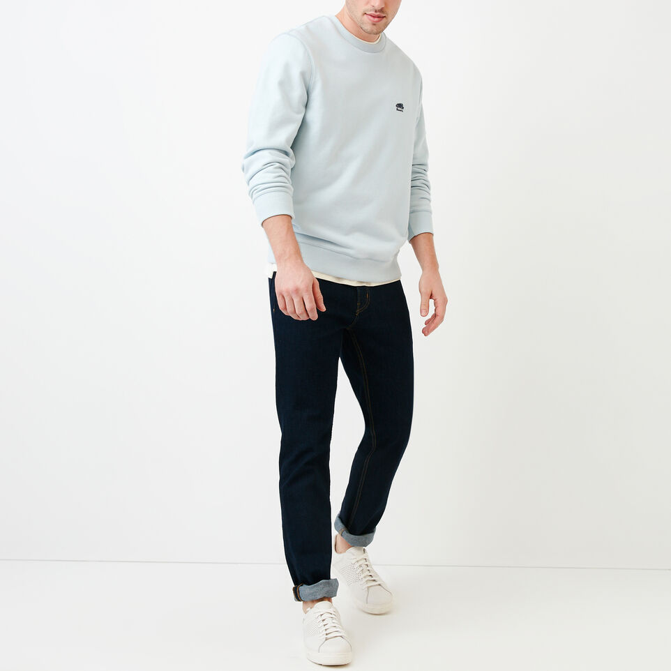 Roots-Men Our Favourite New Arrivals-Cooper Crew Sweatshirt-Baby Blue-B