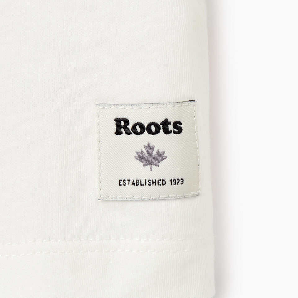 Roots-Kids New Arrivals-Girls Cycle T-shirt-Ivory-E