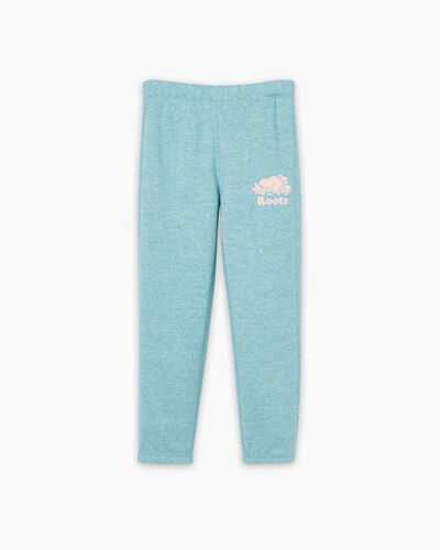 Roots-Sweats Toddler Girls-Toddler Original Roots Sweatpant-Aqua Pepper-A