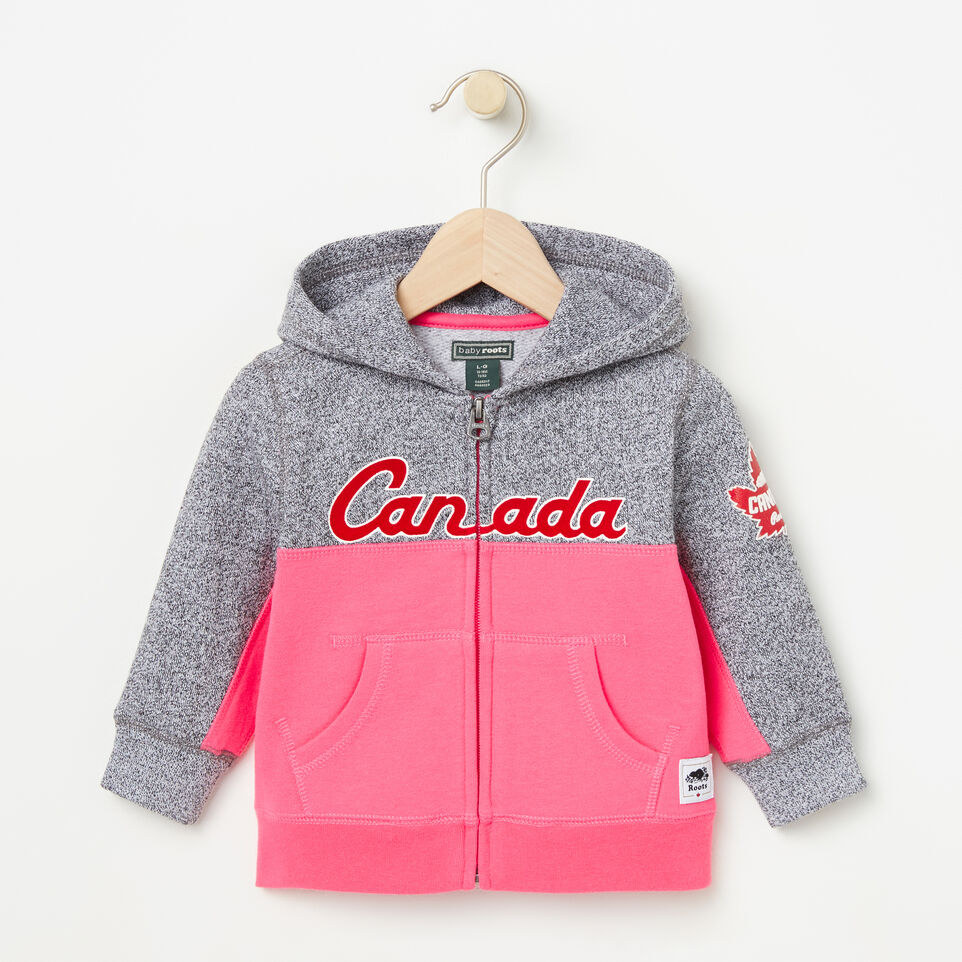Roots-undefined-Baby Heritage Script Full Zip Hoody-undefined-A