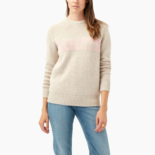 Roots-Sale Women-Roots Crew Sweater-Flaxseed Mix-A