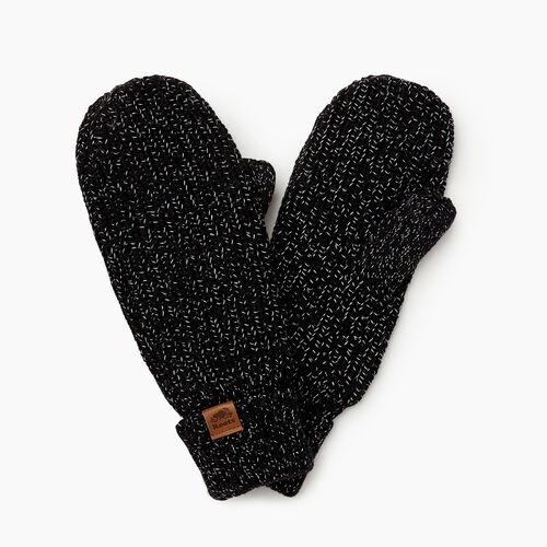 Roots-Gifts Accessory Sets-Snowy Fox Mitt-Black Fox-A