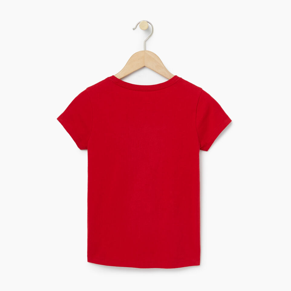 Roots-Clearance Kids-Girls Roots T-shirt-Cabin Red-B