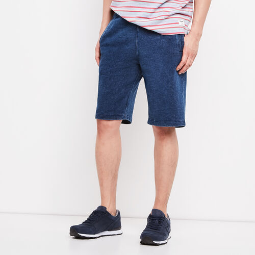 Roots-Men Shorts-Nimes Sweatshort-Med Denim Blue-A