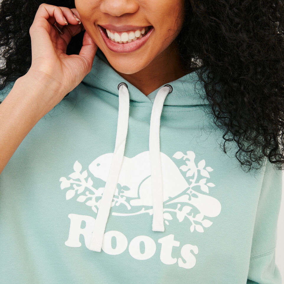 Roots-Women Our Favourite New Arrivals-Melange Terry Hoody-Aquifer-E