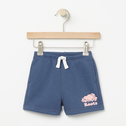 Roots-Sale Baby-Baby Original Athletic Short-Force Blue-A