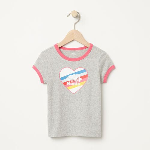 Roots-Kids T-shirts-Toddler Cooper Rainbow Ringer T-shirt-Grey Mix-A
