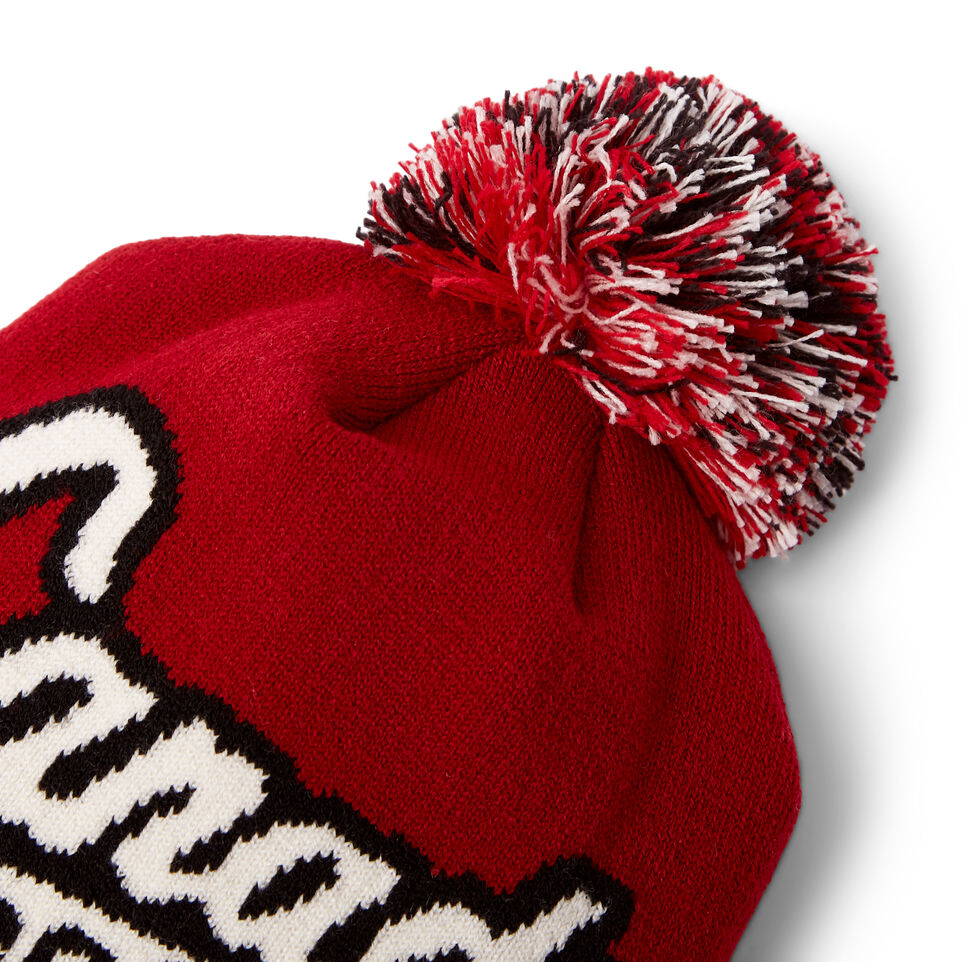 Roots-New For June Canada Collection By Roots™-Canada Pom Pom Toque-Red-D