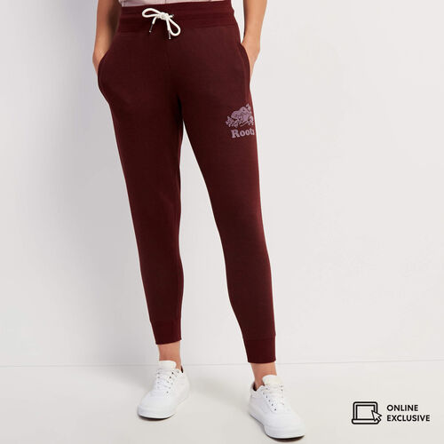 Roots-Sweats Sweatpants-Northlands Cozy Slim Sweatpant-Crimson Pepper-A