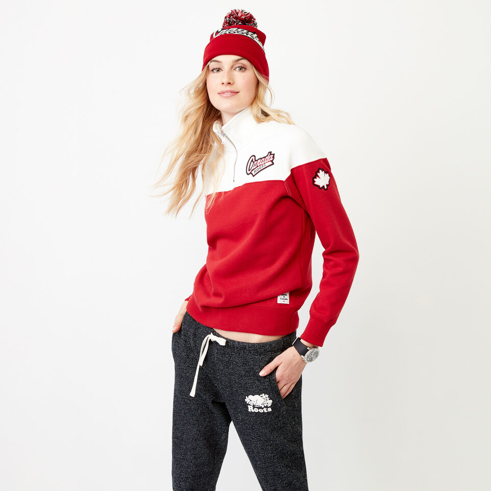 Roots-Women Our Favourite New Arrivals-Canada Zip Stein-Cloudy White-D