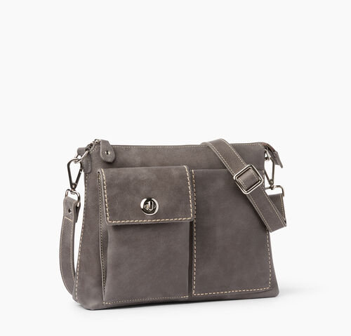 Roots-Leather Crossbody-The Villager Tribe-Charcoal-A