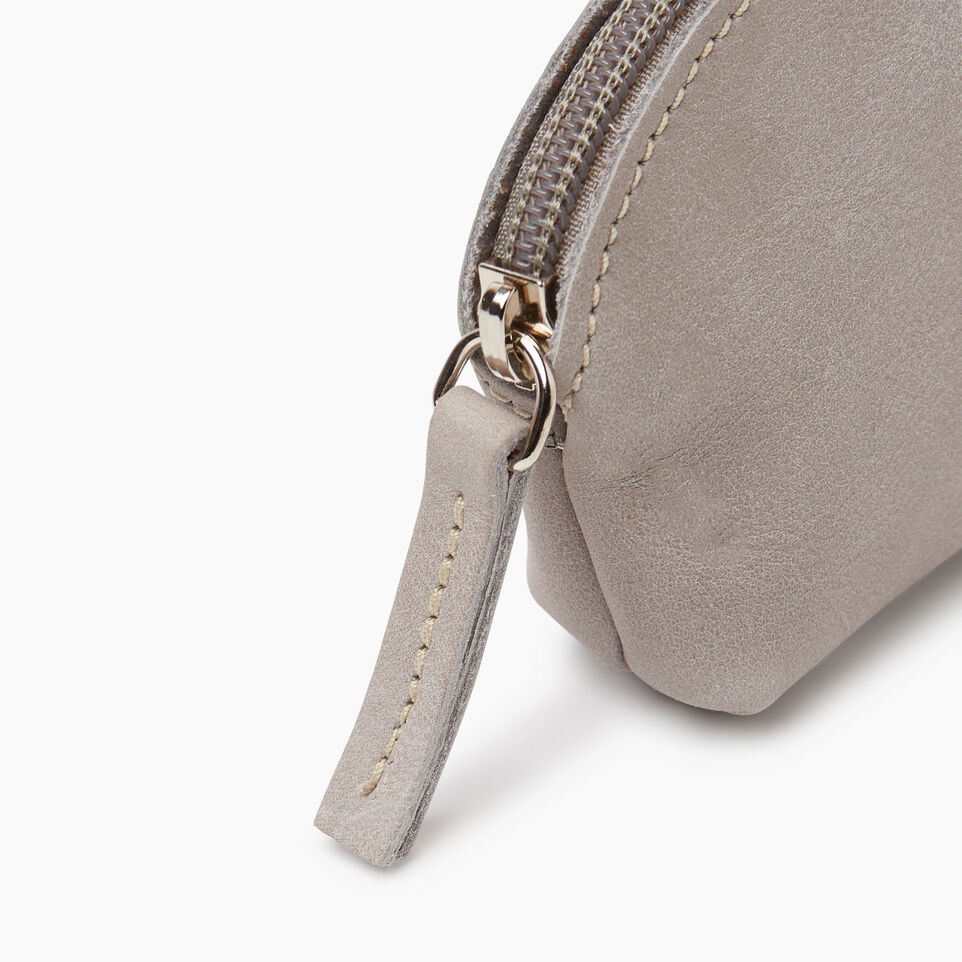 Roots-Leather Small Leather Goods-Small Euro Pouch-Sterling Grey-D