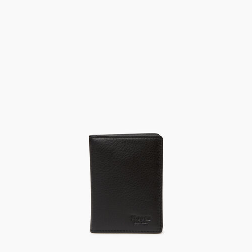 Roots-Leather Our Favourite New Arrivals-Card Case With Id-Black-A