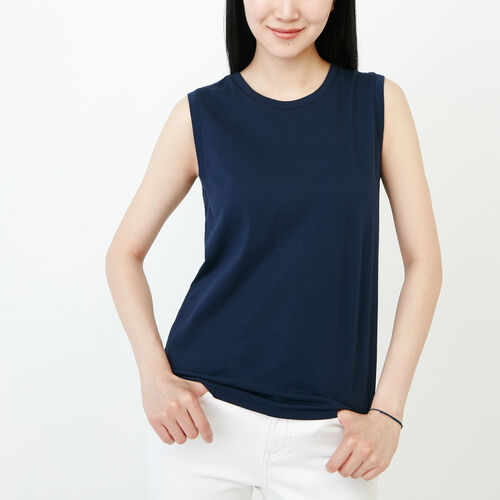 Roots-Women Categories-Essential Tank-Navy Blazer-A